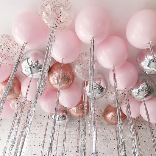 Сет из шаров «Под розовым небом»