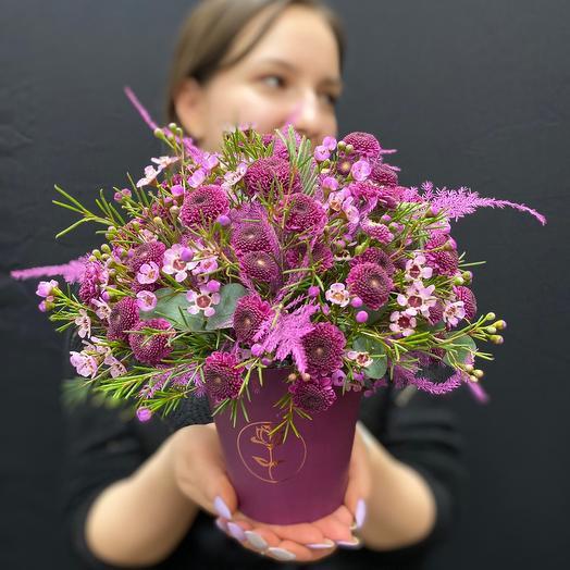 """Очаровательная коробочка с цветами """"Пурпур"""""""