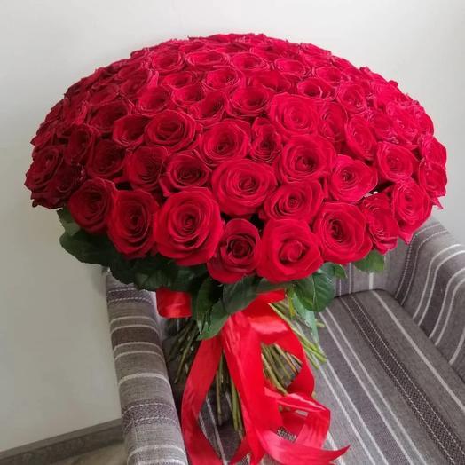 101 красная роза 60см