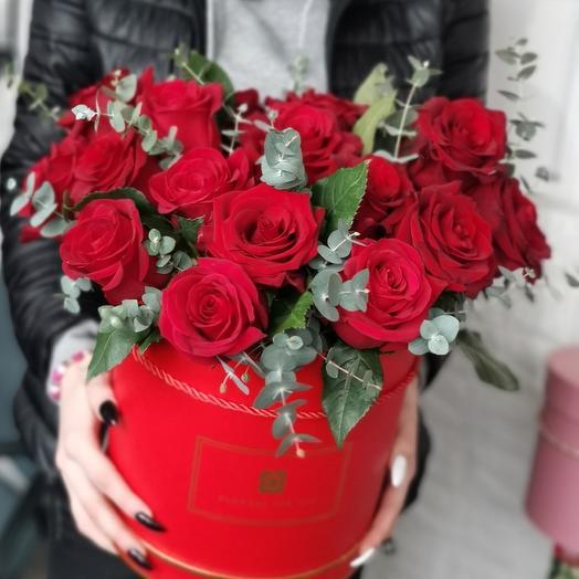 Аквабокс красных роз