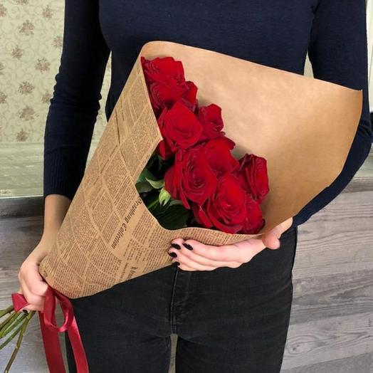 Розы в стильном оформлении