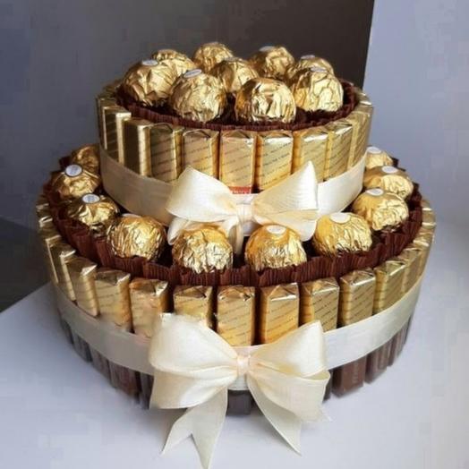 Торт из шоколада мерси. Сладкий букет
