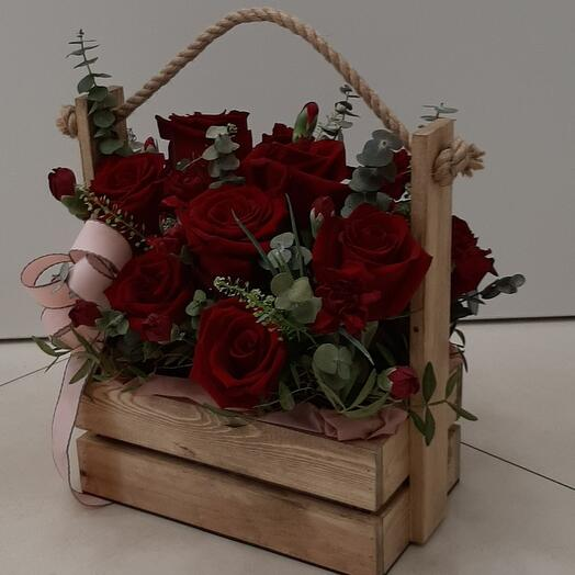 Цветы в коробке (Червовая Дама)