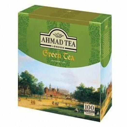 Чай «Ahmad» зеленый 100 пак