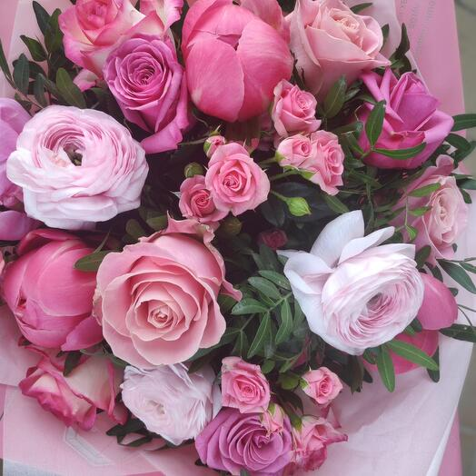 Букет цветов Малиновый Джем