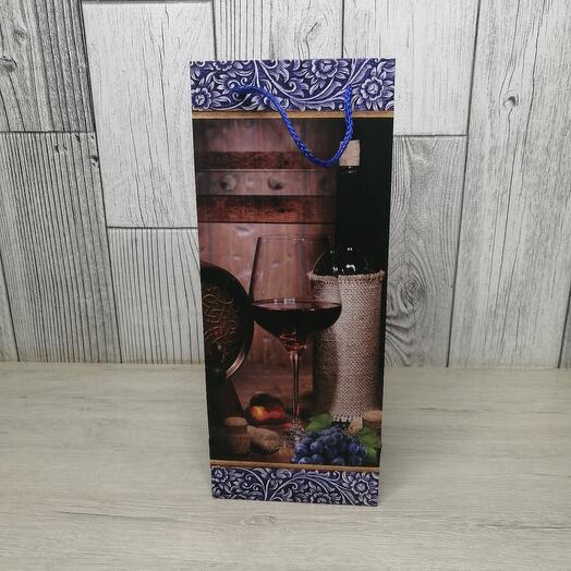 Подарочный пакет для вина
