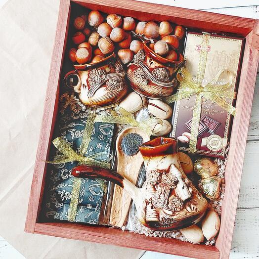Подарочный набор с кофейным сервизом