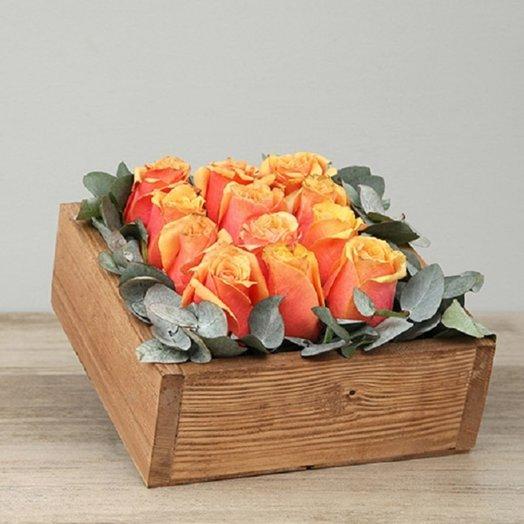 Огненный квадрат: букеты цветов на заказ Flowwow