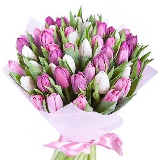 букет из 25 тюльпанов «Розовое настроение»