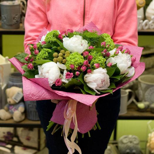 Букет из пионов Шантимель: букеты цветов на заказ Flowwow