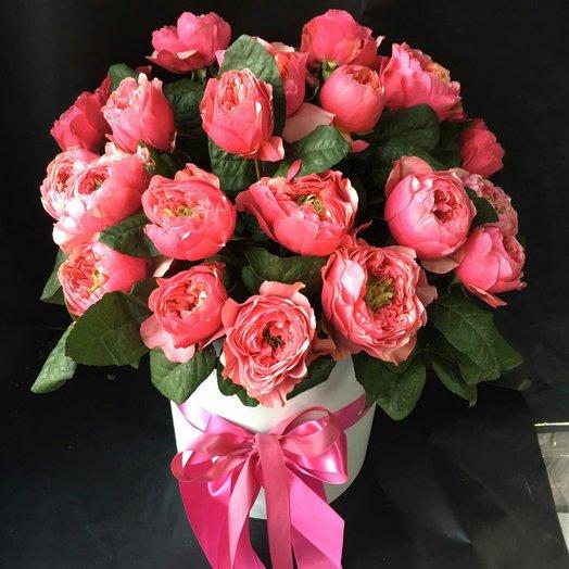 Необычная композиция из пионовидных роз: букеты цветов на заказ Flowwow
