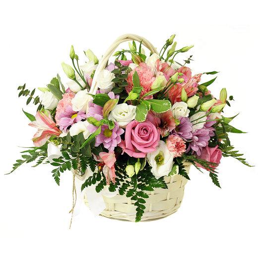 Корзина Розовый нектар: букеты цветов на заказ Flowwow