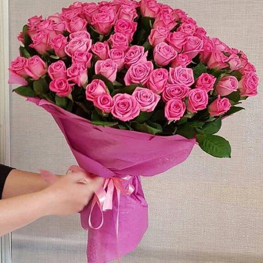 Букет из 101 розы по акции: букеты цветов на заказ Flowwow