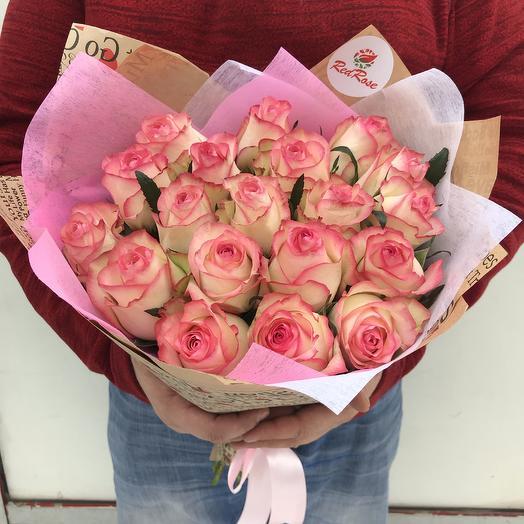 Букет из 19 роз «Джумилия»: букеты цветов на заказ Flowwow