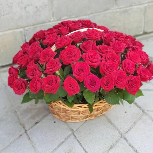 Корзина счастья🌹: букеты цветов на заказ Flowwow