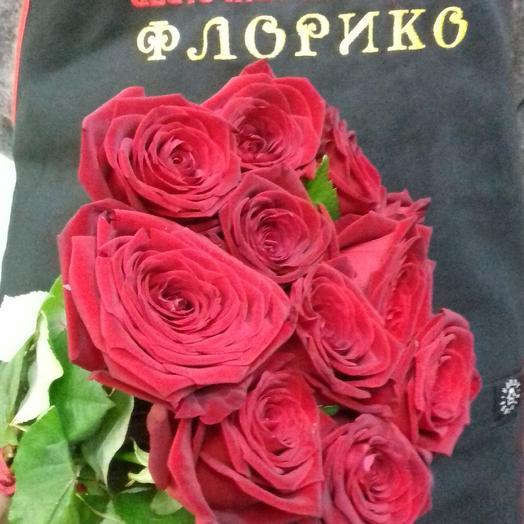 Красная роза 11: букеты цветов на заказ Flowwow