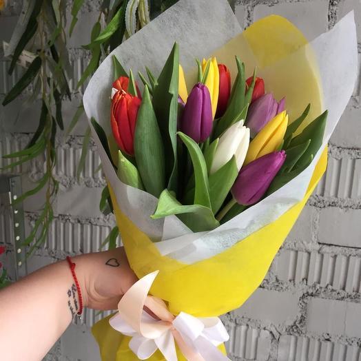 Тюльпаны микс: букеты цветов на заказ Flowwow