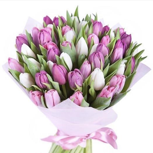Тюльпановый рай: букеты цветов на заказ Flowwow