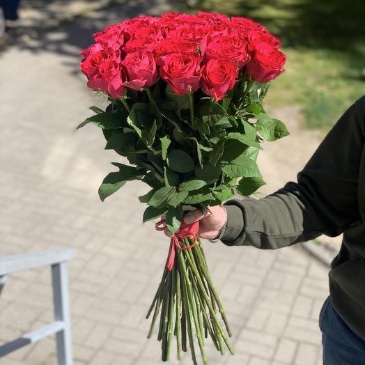31 Малиновая роза 60см