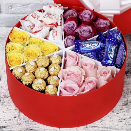 """Подарочный набор """"Сладкоежка"""": букеты цветов на заказ Flowwow"""