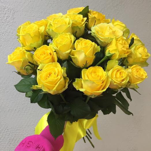 Букет из 21 Розы 50 см: букеты цветов на заказ Flowwow