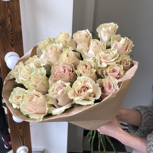 Букет из 23 роз Пинк Мондиаль: букеты цветов на заказ Flowwow