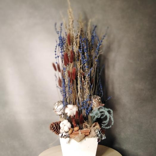 Композиция Лаванда с желудями: букеты цветов на заказ Flowwow