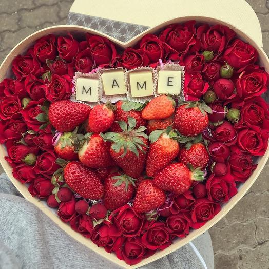Маме сердце: букеты цветов на заказ Flowwow
