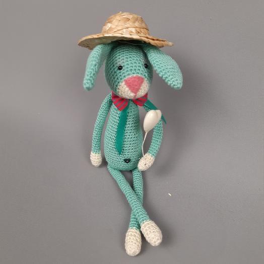 Кролик вязаный голубой: букеты цветов на заказ Flowwow