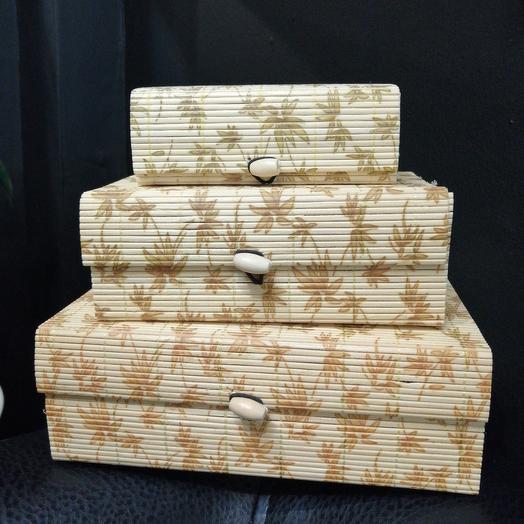 Набор плетеных шкатулок: букеты цветов на заказ Flowwow