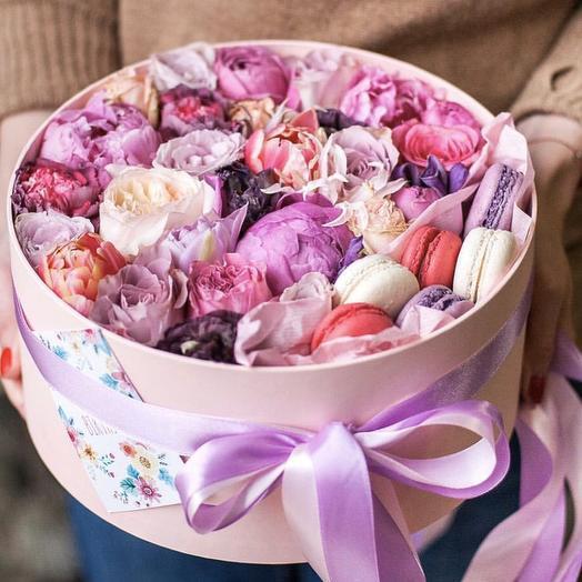 """Цветы в коробке """"Мелисса"""""""