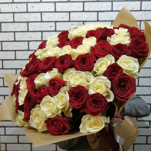 VIP букет 101 роза premium: букеты цветов на заказ Flowwow