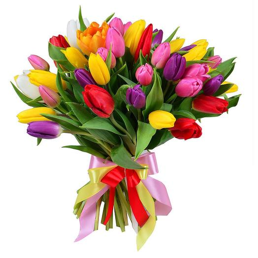 35 тюльпанов: букеты цветов на заказ Flowwow