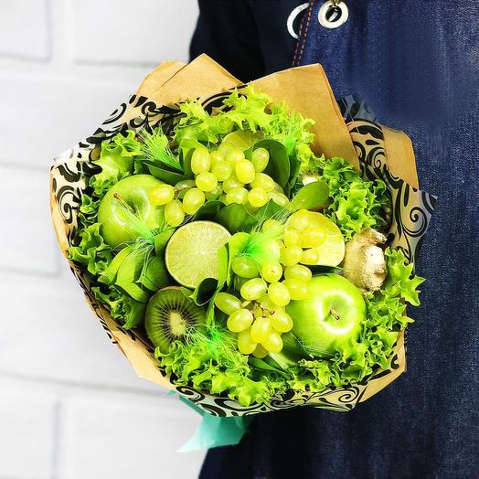 Букет из фруктов Изумруд: букеты цветов на заказ Flowwow