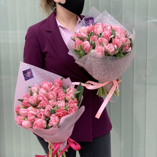 Тюльпаны 27 шт: букеты цветов на заказ Flowwow