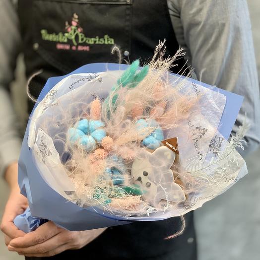 Букет из сухоцветов и пряника ручной работы: букеты цветов на заказ Flowwow