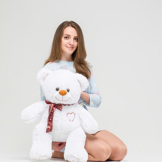 Медведь белый 70см
