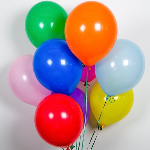 9 воздушных шаров: букеты цветов на заказ Flowwow