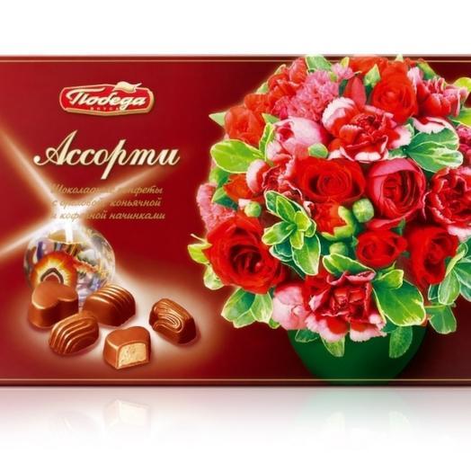 Конфеты шоколадные коробка