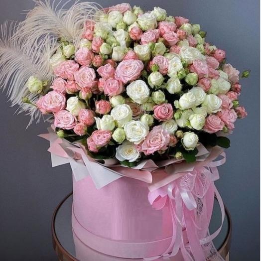 Коробка из кустовых роз Бомбастик