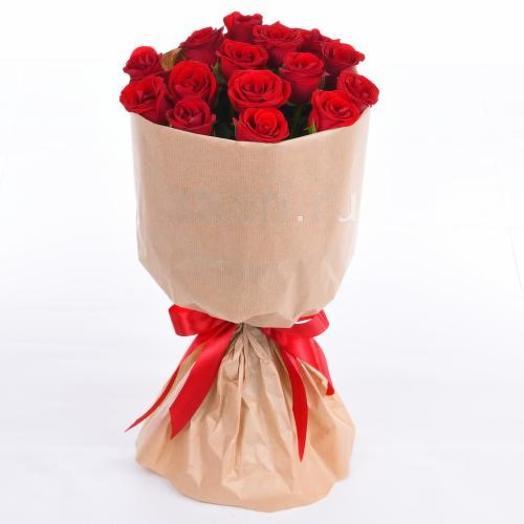 Кенийская красавица 15 роз