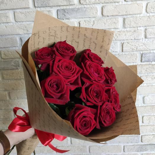 11 роз red naomi