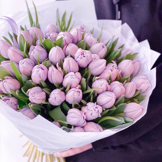 Букет Тюльпаны Сиреневые