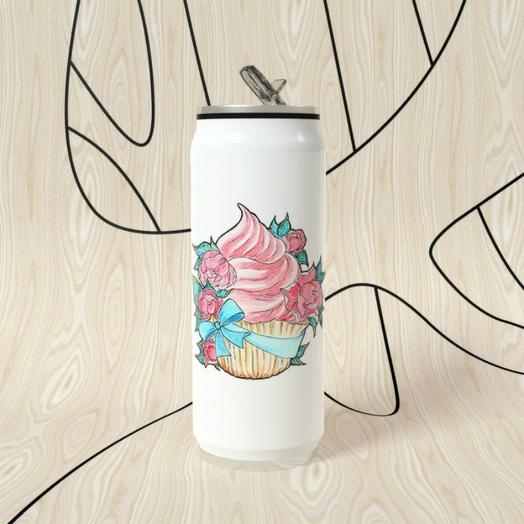 Термобанка One Love, Цветочный кекс