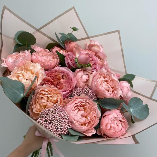 Микс пионовидных роз L
