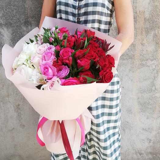 A large gradient bouquet