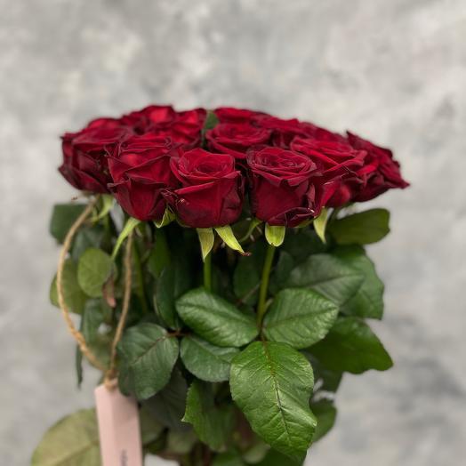 Букет «RED» из 25 красных роз