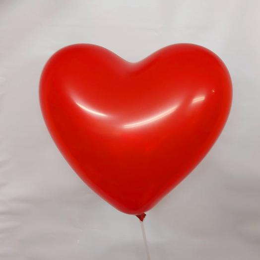 Шар сердце красный