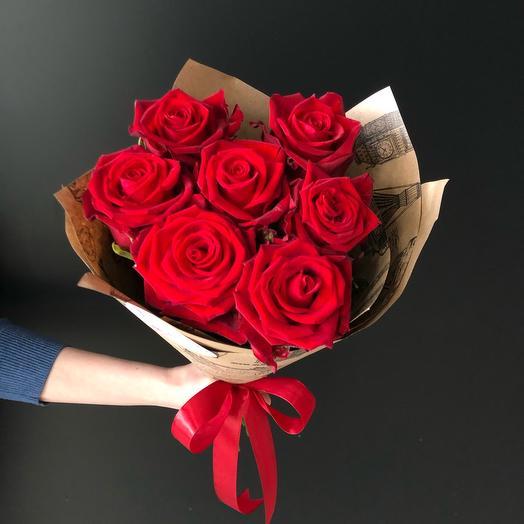 FlowersLab - 7 роз в крафте