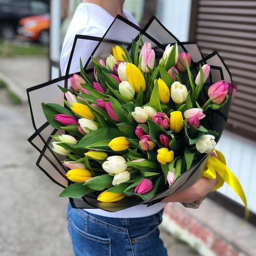 51 тюльпан микс